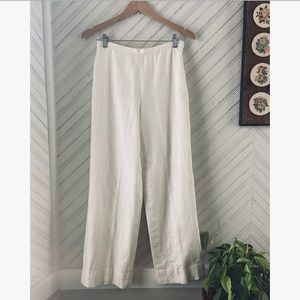 Vtg Linen Casual Trousers